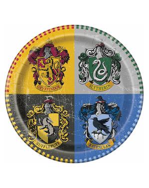 8 platos Harry Potter (23cm) - Hogwarts Houses