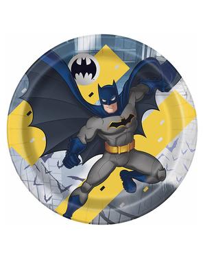 8 platos Batman (23 cm)