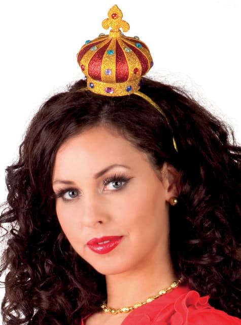 Corona de reina de corazones para mujer
