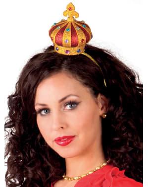 Coroa de rainha de copas para mulher