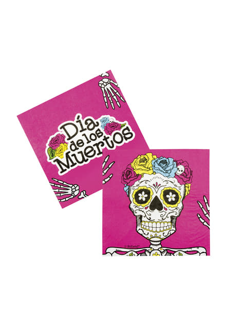 12 Mexican Death Napkins (33x33 cm)