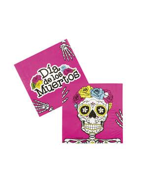 Zestaw 12 serwetek Meksykańska Śmierć
