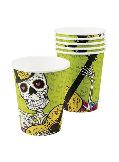 Conjunto de 6 copos Morte Mexicana