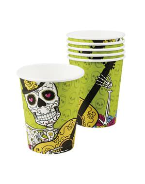 6 vasos Muerte Mexicana