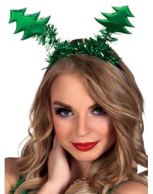 Dámská čelenka vánoční stromky