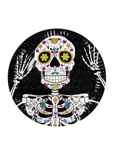 Conjunto de 6 pratos de Morte Mexicana