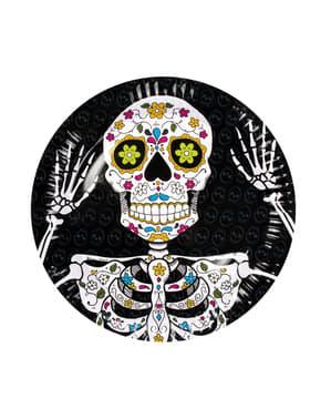Sett med 6stk Mexico Død Tallerkener
