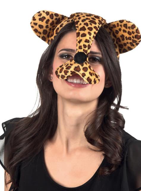 Orejas y nariz de guepardo para mujer