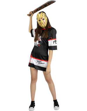 Costume di Jason Venerdi 13 hockey per donna