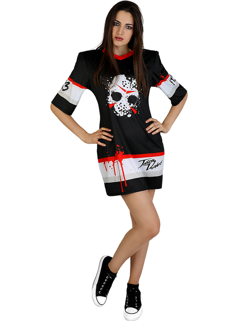 Disfraz de Jason Viernes 13 hockey para mujer