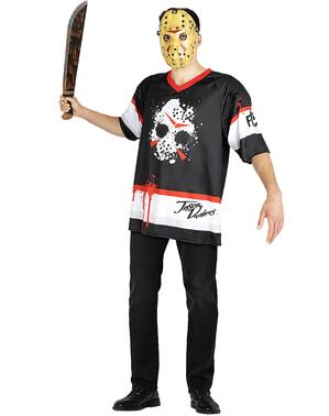 Fredag 13. Jason Hockey Kostyme Plusstørrelse