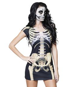 Vestido de esqueleto sexy para mujer