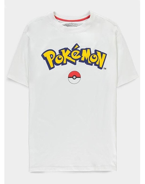 T-shirt met Pokémon-logo voor volwassenen