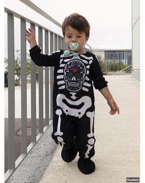 Disfraz de esqueleto Día de los Muertos para bebé