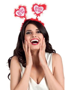 Diademă pentru petrecerea burlăcițelor roșie pentru femeie