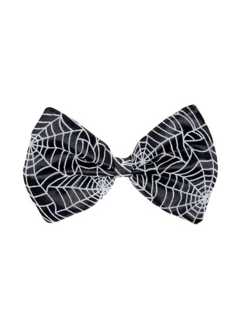 Pajarita negra con tela de araña para adulto - para tu disfraz