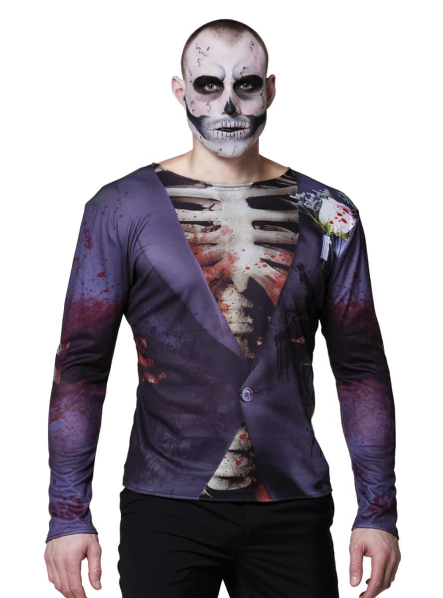 skelett t shirt elegant f r herren f r kost m funidelia. Black Bedroom Furniture Sets. Home Design Ideas