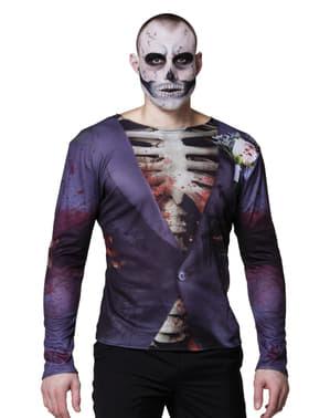 Camiseta de esqueleto elegante para hombre
