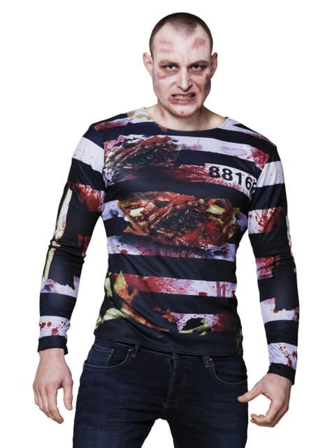 Camiseta de preso zombie para adulto