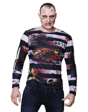 חולצת טריקו האסיר זומבי של המבוגר