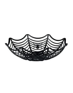 Decoratieve schaal van spinnenweb