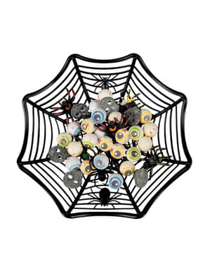 Dekorativer Spinnenweben Korb