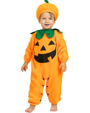 Costum de dovleac pentru bebeluși