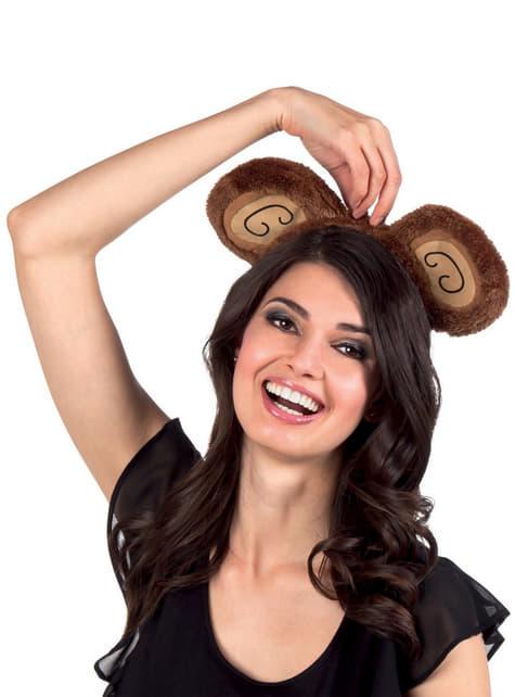 Diadema de orejas de mono para mujer