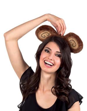 Diadem uszy małpki damski