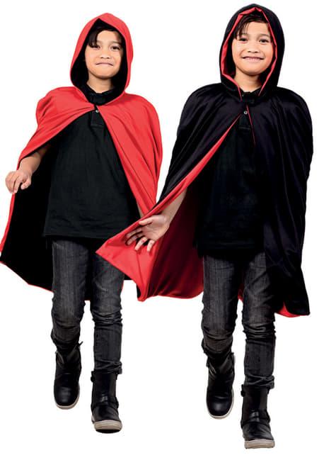 Capa reversible roja/negra para niño - original