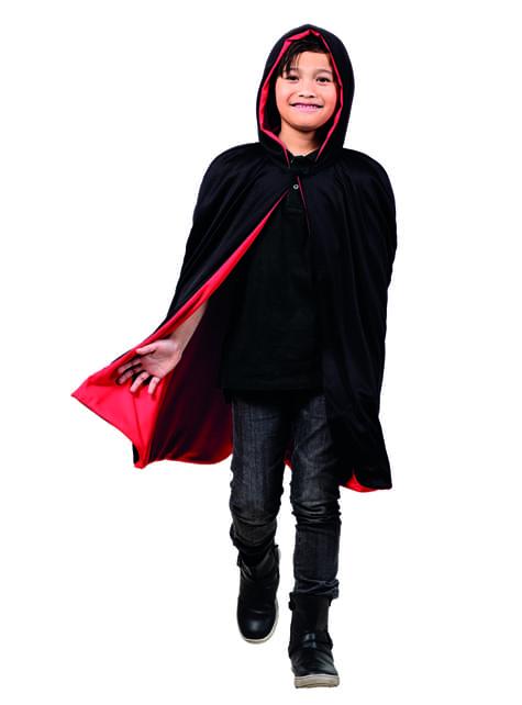 Capa reversível vermelha/preta para menino