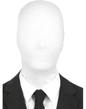 Masque Slenderman blanc