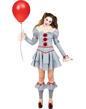 Pennywise Kostyme til Women - It Chapter Two