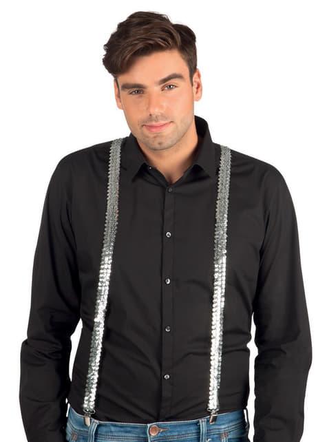 Tirantes plateados de lentejuelas para adulto - para tu disfraz