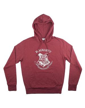 Sudadera Hogwarts granate para adulto - Harry Potter
