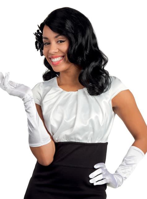 Elegante witte handschoenen voor vrouw