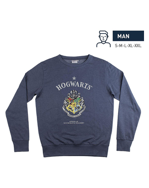 Galtvort blå genser til voksne - Harry Potter