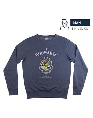 Hogwarts Sweatshirt blau für Erwachsene - Harry Potter
