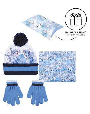 Set pălărie, eșarfă și mănuși Frozen II pentru fete