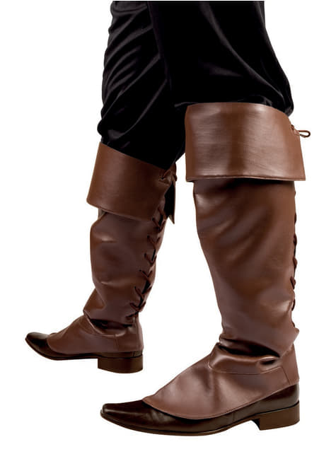 Brown Pirate Overshoes