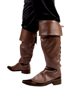 Cobre botas de pirata castanhas