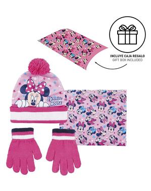 Conjunto de gorro, lenço e luvas Minnie para menina