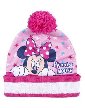Set pălărie, eșarfă și mănuși Minnie pentru fete