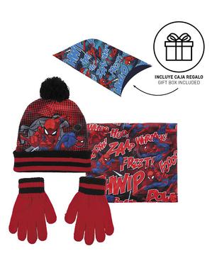 Conjunto de gorro, lenço e luvas Homem-Aranha para menino