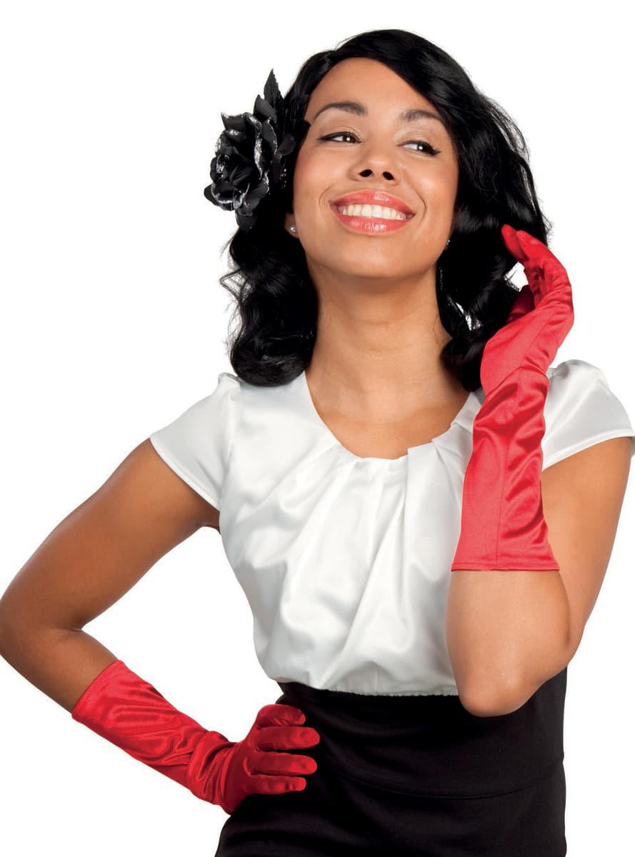 elegante rote handschuhe f r damen. Black Bedroom Furniture Sets. Home Design Ideas