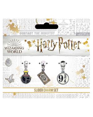 Charms de Hogwarts bañados en plata - Harry Potter