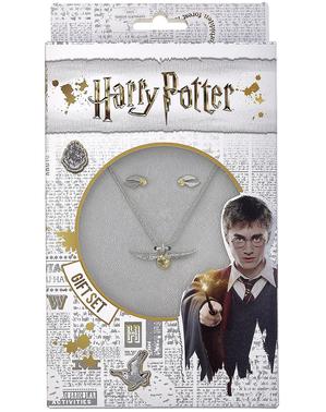 Set colgante y pendientes Golden Snitch - Harry Potter