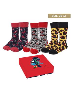 Pack de 3 calcetines de Minnie