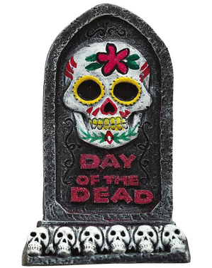 De dødes dag gravstein 13 x 8 cm