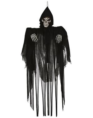 Figura colgantede de esqueleto con luz y movimiento 120 cm